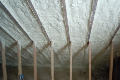 Closed Cell Spray Foam Attic Slopes/Hot Roof