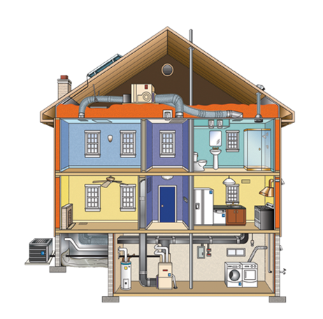 Weatherization egg energy systems for Foundation blanket wrap insulation